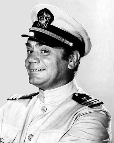 Ernest Borgnine McHale McHale's Navy dress whites 1962.JPG
