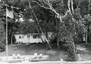 Ernest Hemingway Cottage - Cottage, looking north: 1974