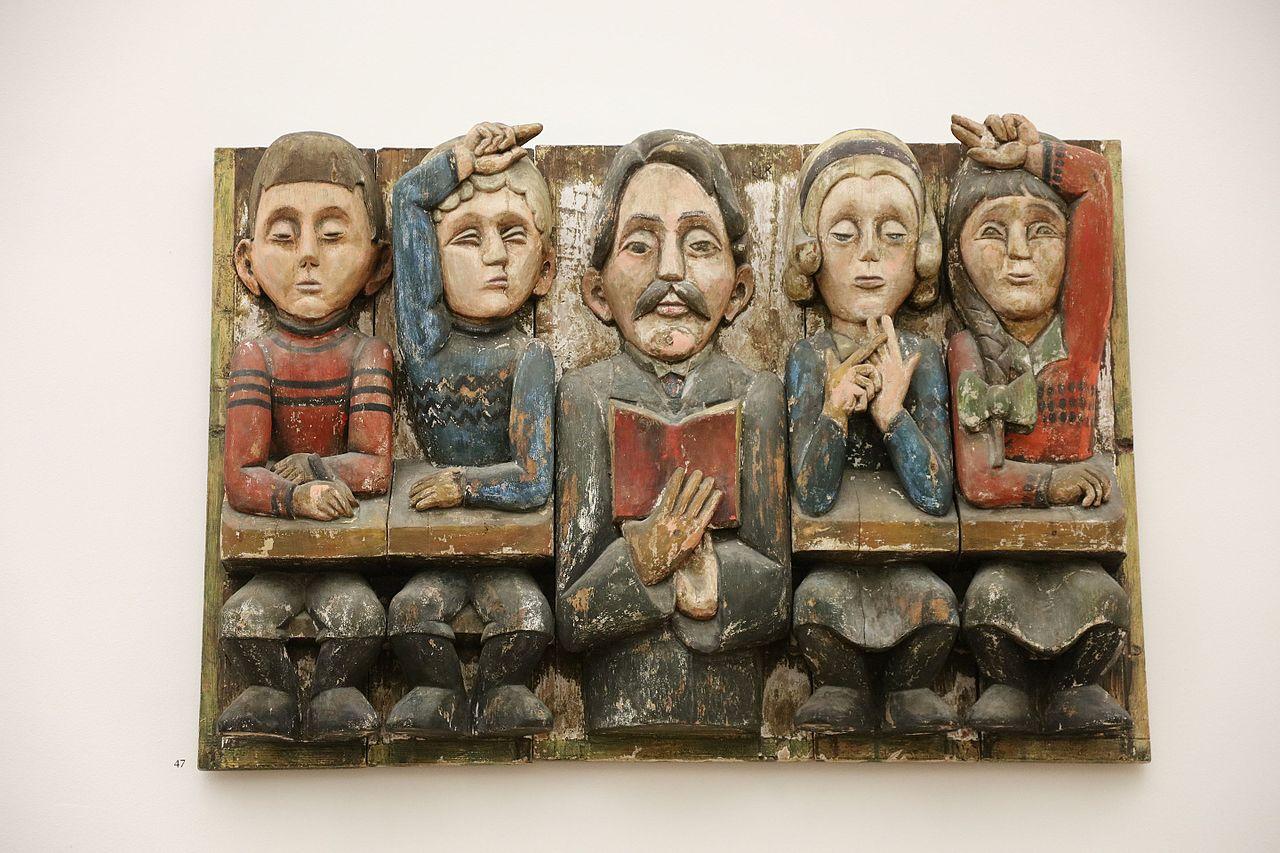 Lehrer Florian Bätschi mit Schulkindern (Ernst Ludwig Kirchner)