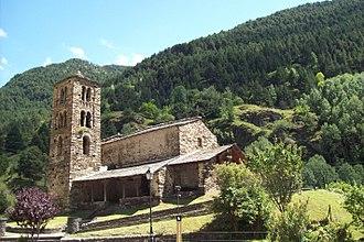 Canillo - The 12th-century Romanesque church of Sant Joan de Caselles.