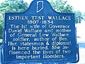 Esther Test Wallace historical marker.jpg