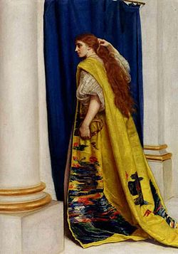 Esther by John Everett Millais, depicting Esther visiting the king to inform him of the plot