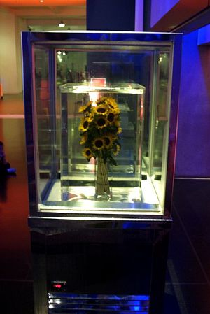 Marc Quinn - 'Eternal Spring - Sunflowers II', sunflowers kept chilled in liquid silicone oil