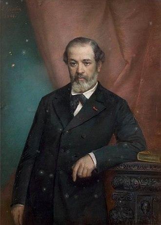 Péreire brothers - Eugène Pereire by Charles Louis Gratia (1884)