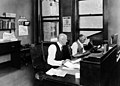 Eugene V. Debs working in his office (5279615626).jpg