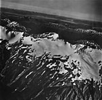 Excursion River and Ridge, snow covered hanging glaciers, September 12, 1973 (GLACIERS 5424).jpg