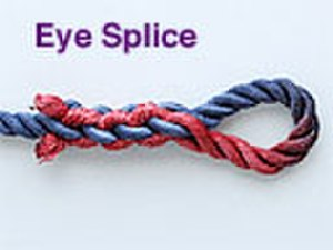 Rope splicing wikivividly the eye splice is a method of creating a permanent loop an eye in the end of a rope by means of rope splicing the fandeluxe Gallery