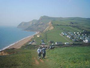 Eype - Image: Eype beach and cliffs