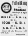 FBUs Mesterskabsrække football match advertisement Svendborg Avis 30.03.1928.png