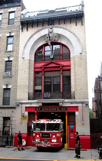 Fire station - Image: FDNY Engine 67 firehouse