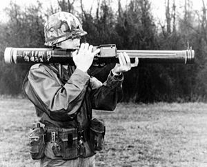 Anti-tank warfare - A soldier preparing to fire the FGR-17 Viper, an American one-man disposable antitank rocket.
