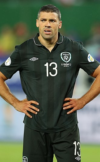 Jonathan Walters - Walters playing for the Republic of Ireland in 2013