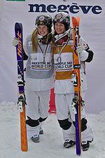 FIS Moguls World Cup 2015 Finals - Megève - 20150315 - Justine et Chloé Dufour-Lapointe 2.jpg