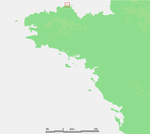 Battle of Sept-Îles - Location of Sept-Îles, Brittany