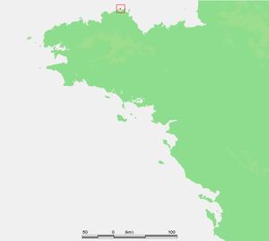 Jentilez - Location of Sept Îles.