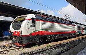 FS Class E.402 - E.402.167 in the new (2012) Frecciabianca livery at Venezia Santa Lucia station.
