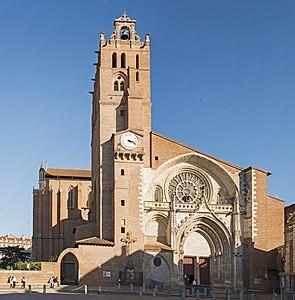 Façade de la cathédrale Saint-Étienne de Toulouse