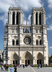 Notre Dame De Paris Has A Gothic West Front In Which Verticals And Horizontals Are Balanced