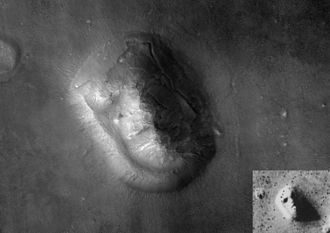 Cydonia (region of Mars) - Image: Face on Mars with Inset