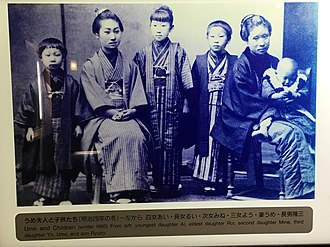 Mikimoto Kōkichi - Ume and Children in Winter 1895.