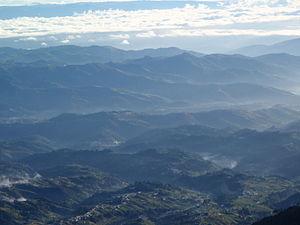 San Marcos Department - Farming communities below Volcán Tajumulco in San Marcos.