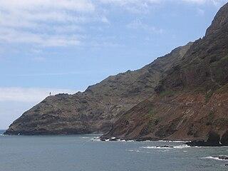 Farol de Fontes Pereira de Melo lighthouse in Cape Verde