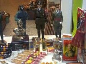 Neo-fascism - Francoist and Nazi memorabilia in a shop in Toledo, Spain