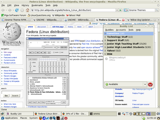 Bluecurve - Bluecurve being used with Fedora 7