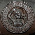 Female Bust - Medallion - 2nd Century BCE - Red Sand Stone - Bharhut Stupa Railing - Madhya Pradesh - Indian Museum - Kolkata 2012-11-16 1846 Cropped.JPG