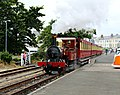 Fenella leads a train at Port Erin (geograph 5049228).jpg