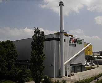 District heating - Biomass fired district heating power plant in Mödling, Austria