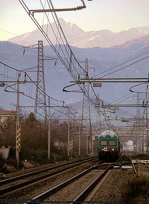 Turin–Modane railway - An Italian train running the Fréjus railway.