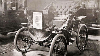 F. B. Fetherstonhaugh - Photo of the Fetherstonhaugh Car, one of the first electric cars in Canada, shown at the Toronto Exhibition in c. 1896.