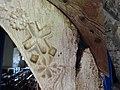 Ffram bren Eglwys Gwaenysgor wooden door frame - Flintshire, Wales 03.jpg