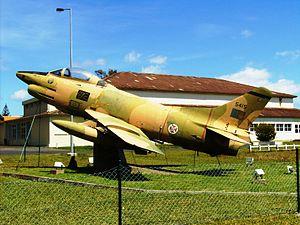 Vila do Porto (parish) - A Fiat G.91 from the Força Aérea Portuguesa in the region of Aeroporto, former military airbase