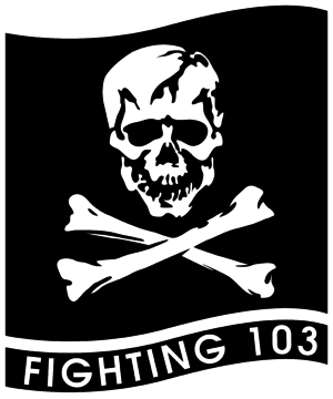 Carrier Air Wing Seven - Image: Fighter Squadron 103 (US Navy) insignia 1995