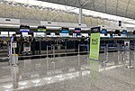 Fiji Airways check-in counters at VHHH T1 (20180903153145).jpg