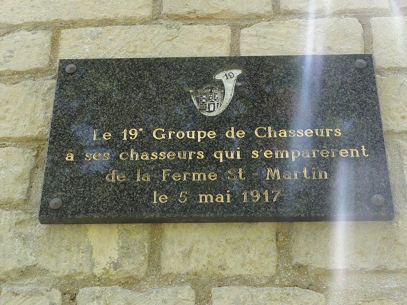 Filain (Aisne) chapelle Berthe, plaque 3