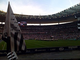 2009 Coupe de France Final - The opening of the 2009 final of Coupe de France at Stade de France, seeing La Garde Républicaine performing Tri Martolod and Bro Gozh ma Zadoù, the former being made famous by Breton musician Alan Stivell and the latter being the hymn of Brittany.