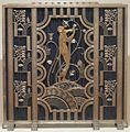 Fire screen made by Rose Iron Works of Cleveland, 1930.JPG