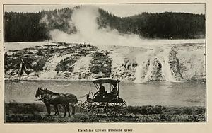 Firehole River - Image: Firehole River Excelsoir Geyser 1894