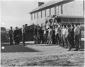 First 29 Navajo U.S. Marine Corps code-talker recruits being sworn in at Fort Wingate, NM. - NARA - 295175.tif