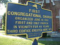 First Congregational Church Middletown NY Historical Marker Jun 11.jpg