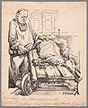 Fiscus scheert de toneelkunst De Schapenscheerder in actie (titel op object), NG-505-8.jpg
