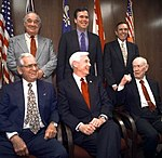 Five former governors posing with Governor Jeb Bush at the Florida Governors Forum - Tallahassee, Florida.jpg