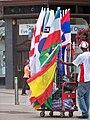 Flag vendor on Briggate in Leeds (24th June 2010) 001.jpg