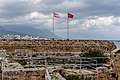 Flags of Turkey and Northern Cyprus, Kyrenia Castle, Kyrenia, Northen Cyprus.jpg