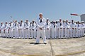 Flickr - Official U.S. Navy Imagery - Sailors stand at ease during a change of command ceremony aboard USS Stethem.jpg