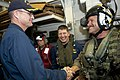 Flickr - Official U.S. Navy Imagery - The commander of Carrier Strike Group 8 shakes hands with the CO of USS Jason Dunham..jpg