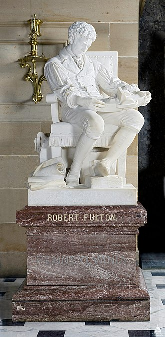 Howard Roberts (sculptor) - Robert Fulton (1878-83) by Howard Roberts, Statuary Hall Collection, U.S. Capitol.
